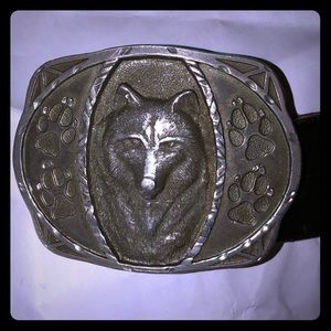 1995 CJP NUMBERED WOLF BELT BUCKLE